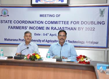 State Coordination Committee for Doubling Farmers' Income in Rajasthan By 2022